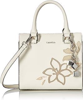Calvin Klein Logan Saffiano Leather Floral Applique Crossbody
