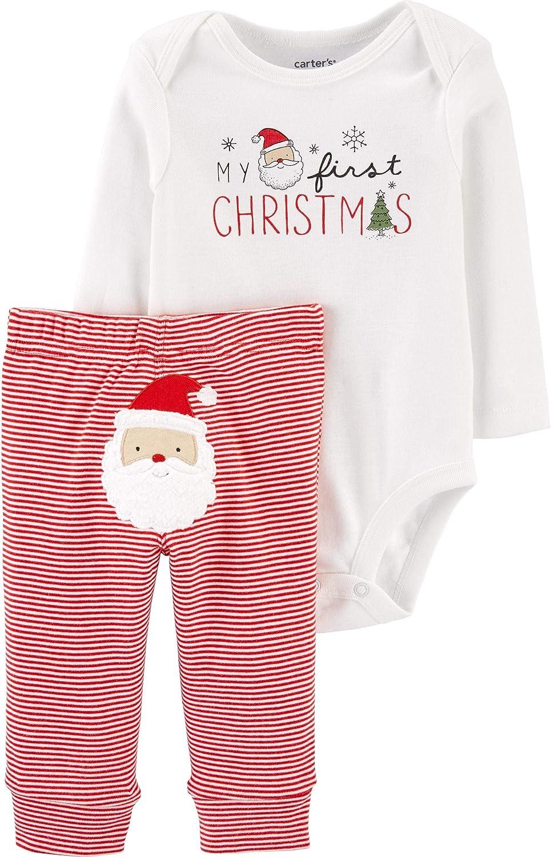 Carter's Baby Boys' Christmas 2-Piece Bodysuit & Pant Set