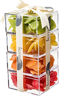 The Nuttery Premium Dried Fruit Gourmet Gift Tower ~ Strawberry ~ Cantaloupe ~ Kiwi ~ Pineapple ~