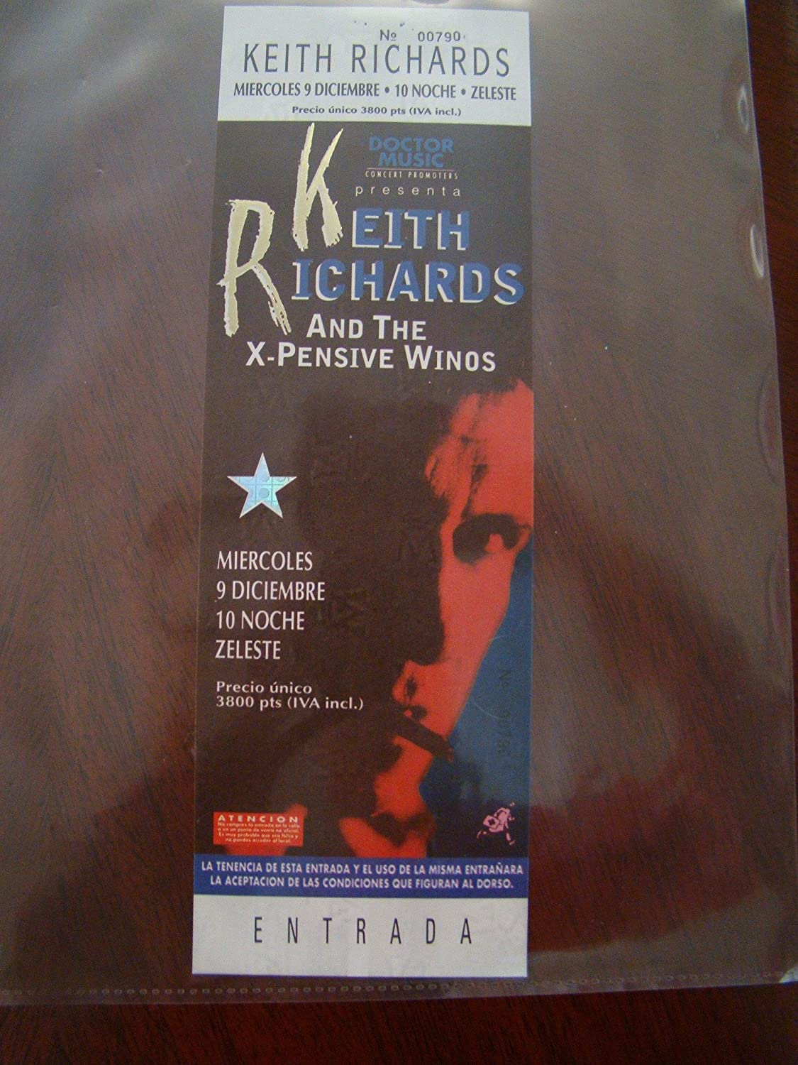 Keith Sale Richards Vintage Music quality assurance X-pensive Ticket Win