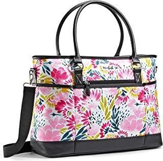 Fit & Fresh Travel Bag, Large Tote Bag, Carry On with Zipper for Work   College   Travel & Commuting, Blithewold Blooms