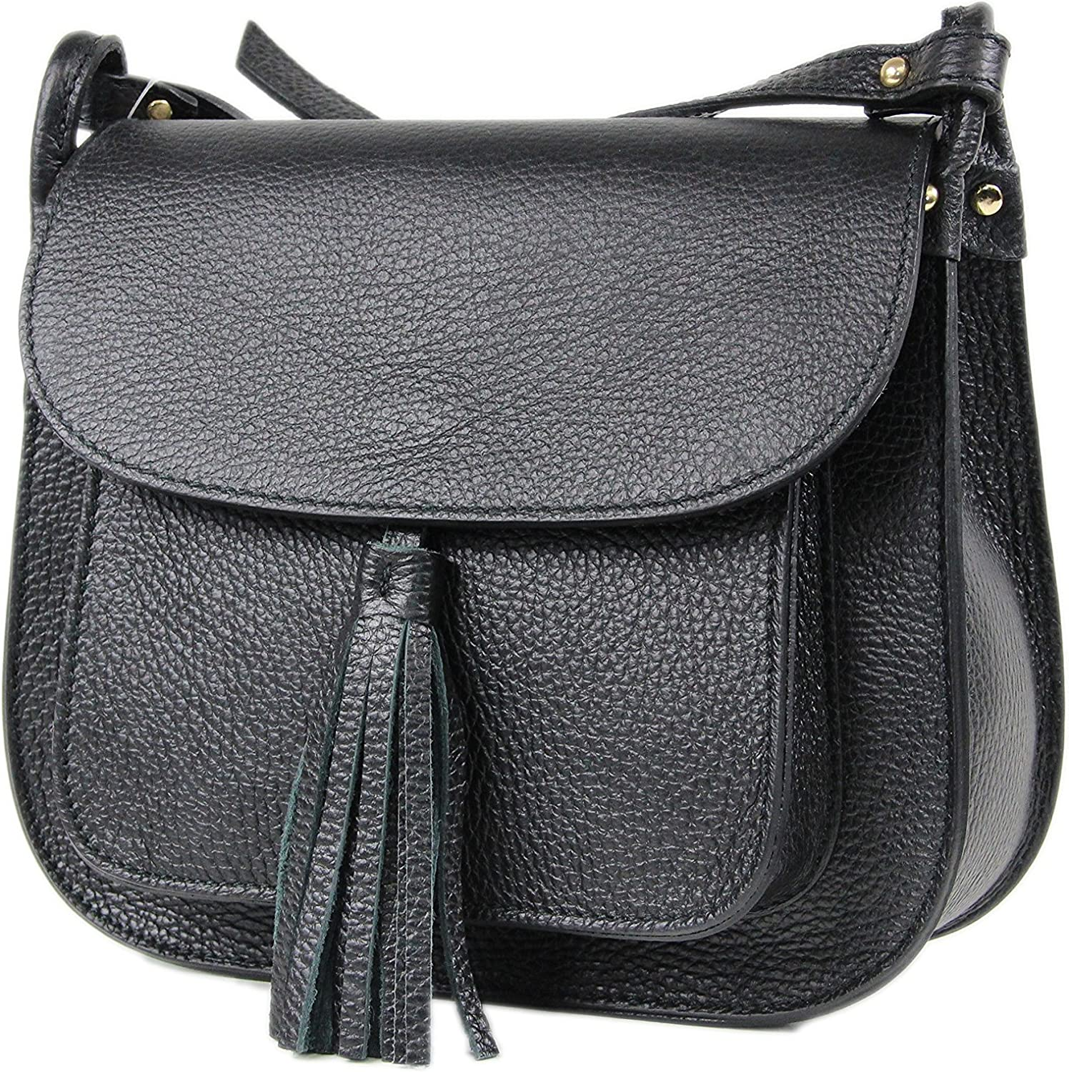LANGAME leather Cross Boday Bag