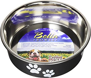 Loving Pets 7404 Bella-Espresso-Dog Bowl, Black, Small