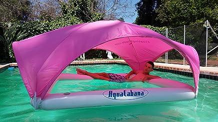 Aqua Cabana 浮动遮阳棚终极遮阳系统适用于水上活动,耐用,充气,便携 AquaCabana Floating Shade Sun Shade System 粉红色 td-001P