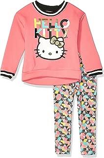 Hello Kitty 女童 2 件套运动衫和裤子打底裤套装