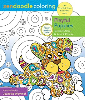 Zendoodle Coloring: Playful Puppies: Delightful Dogs to Color and Display