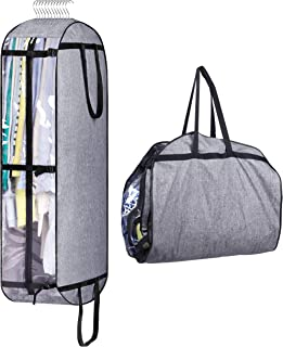 """MISSLO 10"""" Gusseted Hanging Garment Bags for Closet Storage Moving Bags for Clothes Suit Travel Cover for Men, Women, Coa..."""