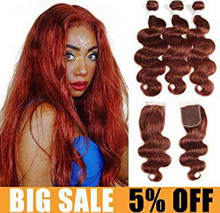Best copper red bundles with closure Reviews