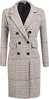 Women's Winter Thick Lined Double Breasted Long Maxi Jacket Blazer Pea Coat