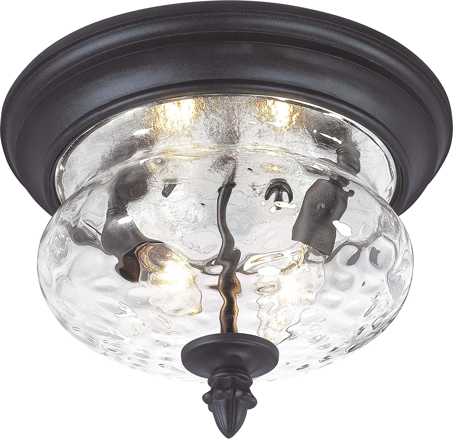 Minka Lavery Flush Mount Ceiling Light Round 9909-1-66 2 Light 80 watt (8 H x 11 W) Black