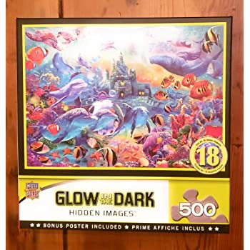 MasterPieces Glow in the Dark Moon Fairy Large EZ Grip Jigsaw Puzzle by Garry Walton 300-Piece MasterPieces PuzzleCompany 31852