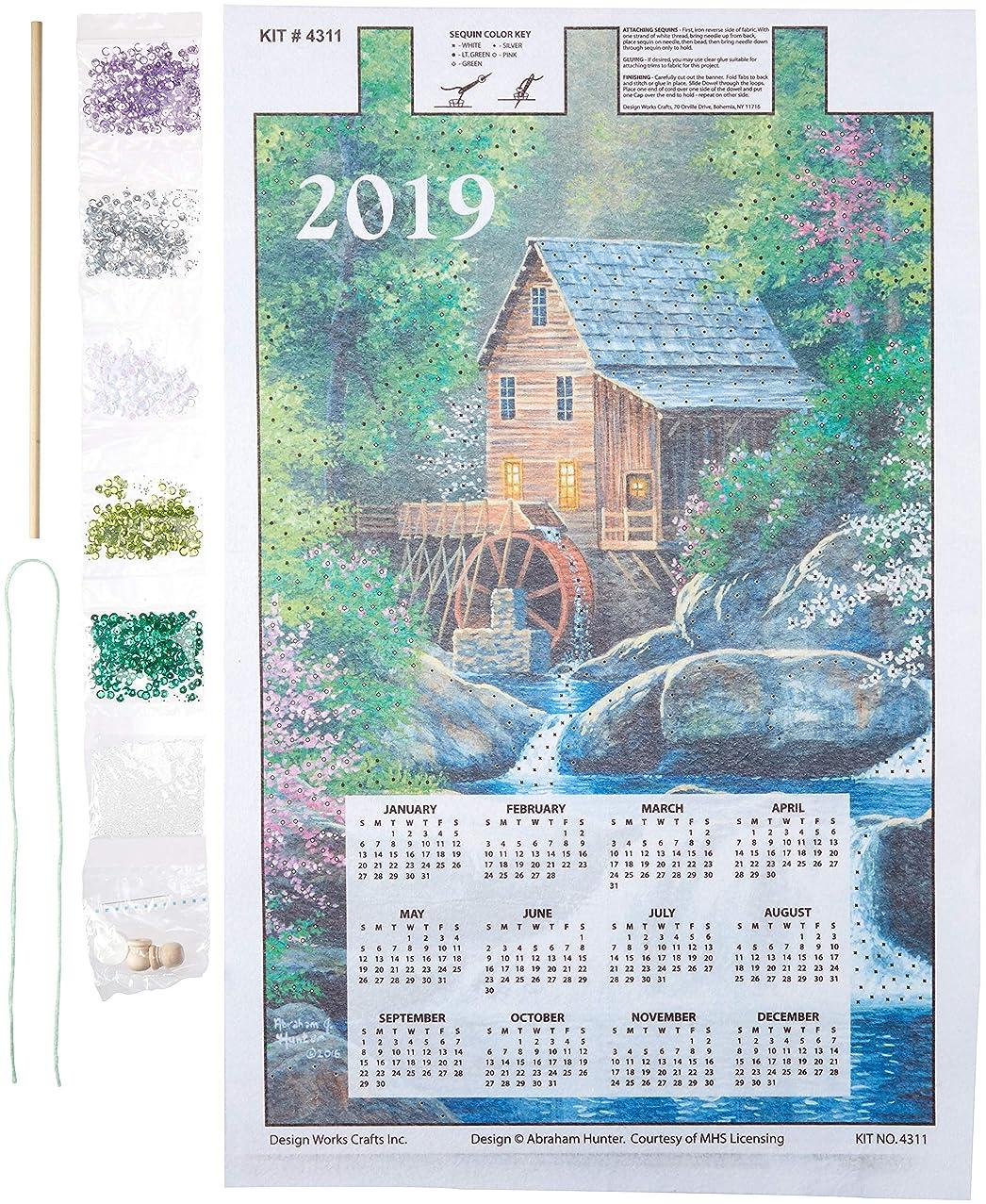 Mary Maxim 4311 Design Works Sequin Calendar 2019 Watermill
