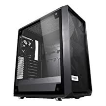 Fractal Design Meshify C - Compact Computer Case - High Performance Airflow/Cooling - 2X Fans Included - PSU Shroud - Modu...