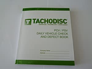 Tachodisc T50 PSV Daily Vehicle Check And Defect Books  bus  coach