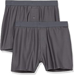Amazon Essentials Boxer Traspirante Ad Asciugatura Rapida, 2 Pezzi Boxer-Shorts Uomo