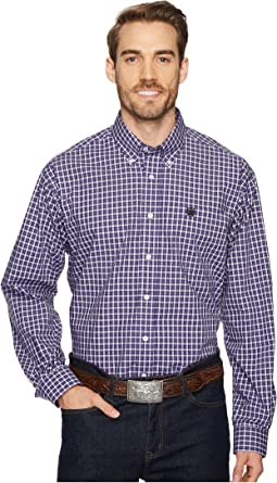 Long Sleeve Plain Weave Plaid