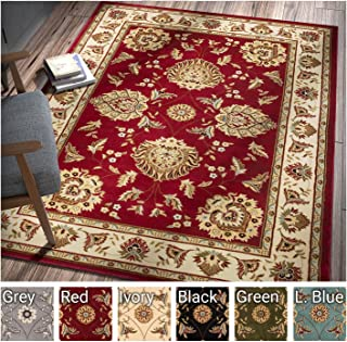 Sultan Sarouk Red Persian Floral Oriental Formal Traditional 8x11 8x10 (7'10