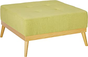 Christopher Knight Home Living Lou Mid-Century Olive Fabric Ottoman, Bright Green