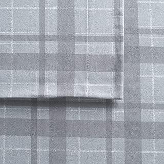 Cuddl Duds Queen Size Flannel Sheet Set (Gray Plaid Harley)