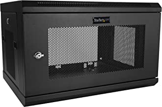 """StarTech.com 2 Post 6U 19"""" Wall Mount Network Cabinet - 15"""" Deep Locking IT Switch Depth Enclosure - Vented Computer/Elect..."""