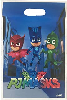 """PJ Masks Loot Goody Goodie Gift Bag, 6.5"""" x 10"""" Pearly Plastic, Partyware Tableware Party Favor Bag for Pinata Candy Decorations -10 pcs"""
