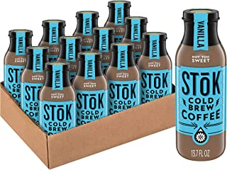 SToK Cold-Brew Coffee, Vanilla, 13.7 oz. Bottle (Pack of 12)