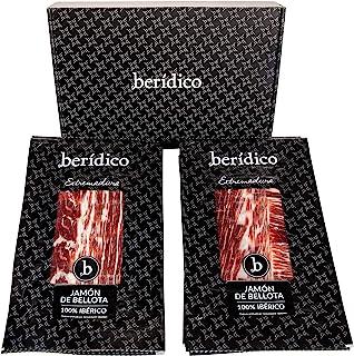 comprar comparacion Pack 9 sobres de 100 gr de Jamón de Bellota 100% Ibérico cortado a mano. Extremadura. BERÍDICO