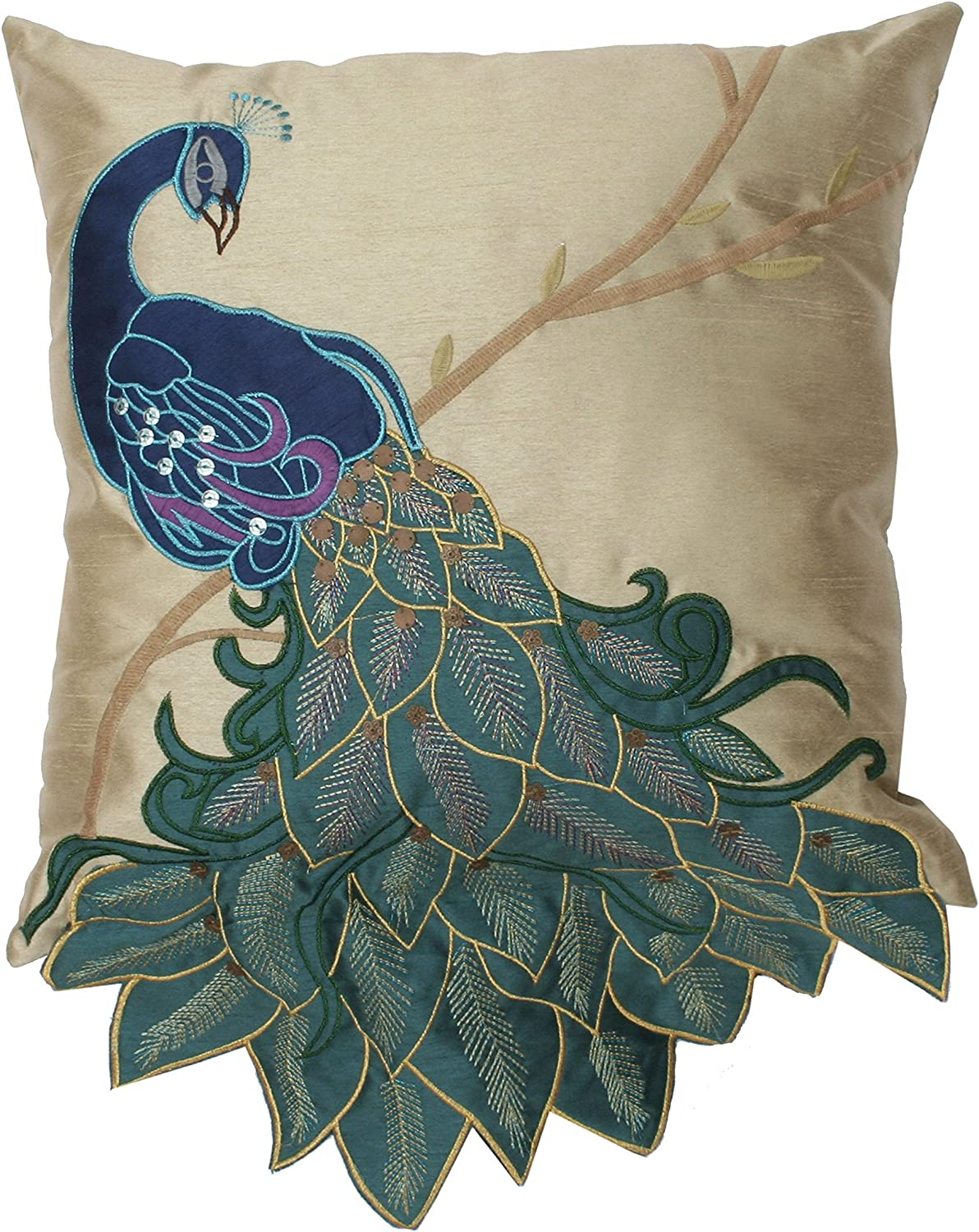 Thro by Marlo Lorenz 4182 Large special price Fancy Mu 16-Inch Peacock 16 Excellent Pillow