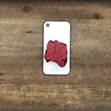 The Threaded Pear Natural Stone POP Phone Grips (Red)