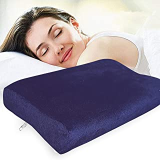 "Zofey Memory Foam Cervical Medical Pillow for Sleeping Orthopedic Pillows for Neck Back Pain (20""X12""X3"") White Color (White)"