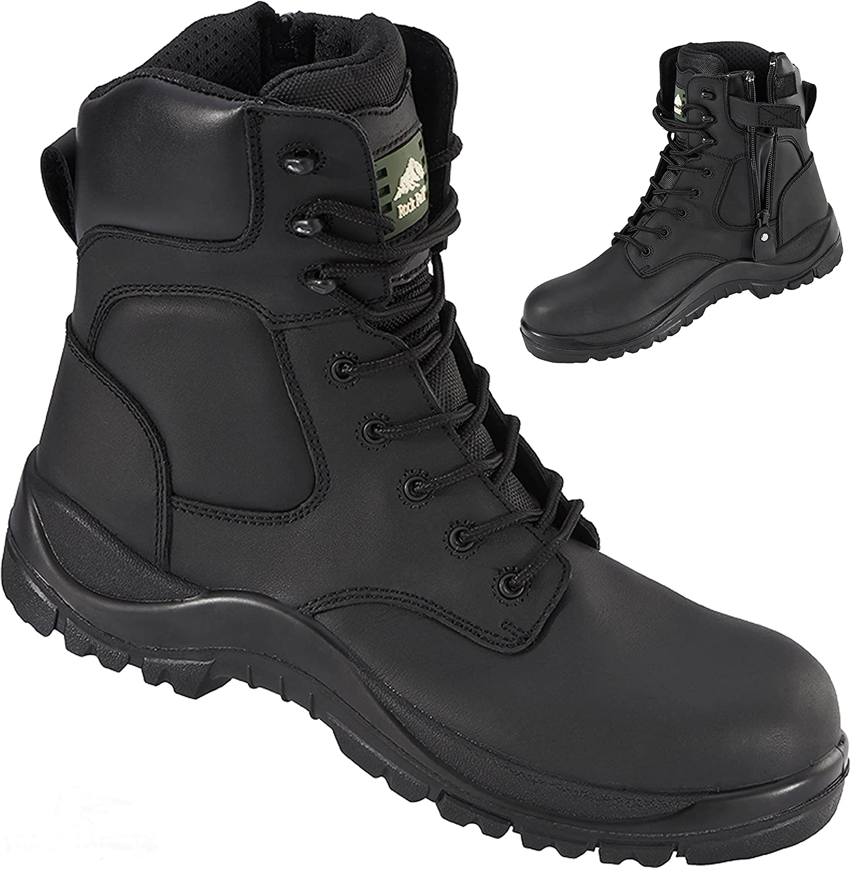 Rock Fall Melanite RF333 Waterproof Wide Fit Zip Up Non Metallic Safety Boots
