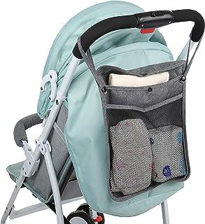 Universal Stroller Organizer and Travel Organizer for Baby Stroller with Baby Accessories Holder, Baby Bottle Holder, Phon...