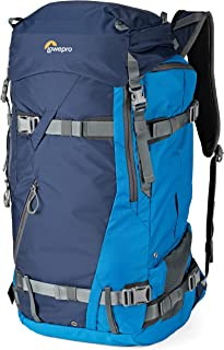 Lowepro Powder BP 500 AW Outdoor Backpack (Blue) for Walking, Hiking, Trekking and Winter Sports for Photo/Video Equipment and Personal Items (Fits DSLR/Mirrorless and Accessories)