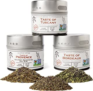 Gustus Vitae - Italian French Countryside Gourmet Seasoning & Spice Collection - Artisanal Salt Free Spices...