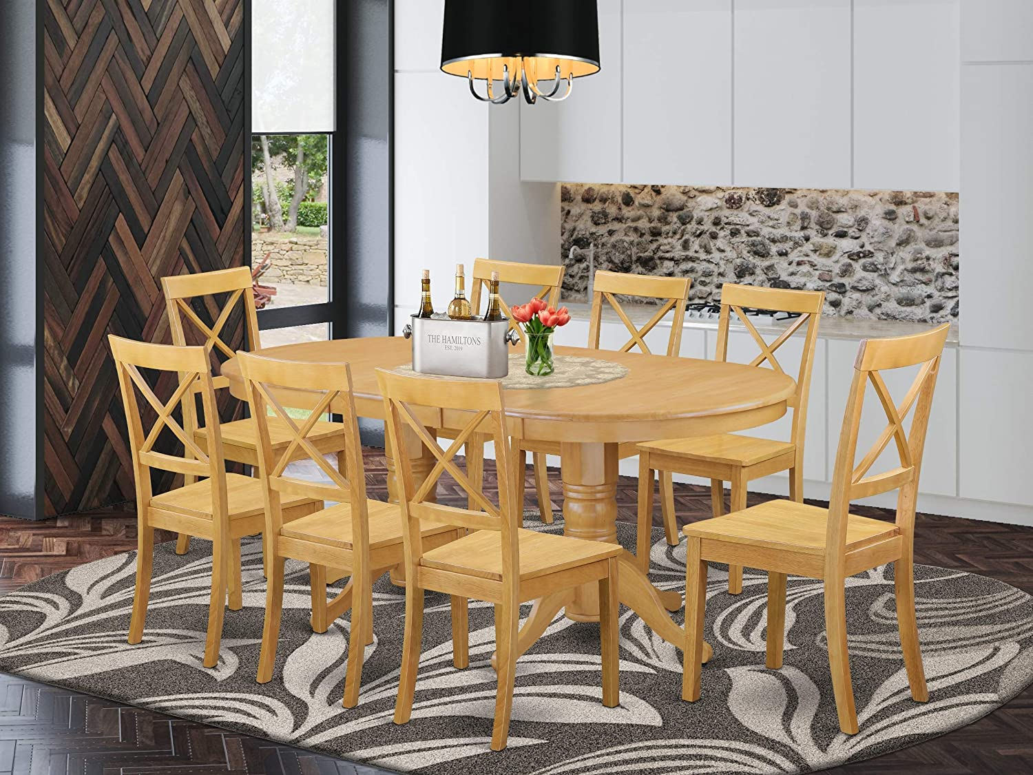 Amazon.com   9 Piece Vancouver Dining Table with one 9