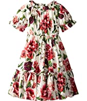 Dolce & Gabbana Kids - Poplin Peonie Dress (Big Kids)