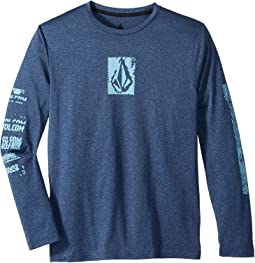 Lido Pixel Heather Long Sleeve Thrashguard (Big Kids)