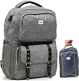 Smart Business Travel Laptop USB Anti-Theft Backpack/w Combo Lock + Organizer