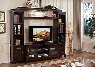 ACME Furniture COM91090-2PC Halden Entertainment Center with TV Stand, Merlot