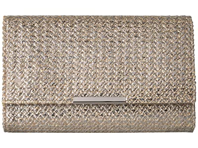 Jessica McClintock Nora Clutch (Gold Metallic) Clutch Handbags