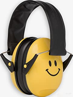 Alpine Hearing Protection Alpine Muffy Smile Muffs, Ear Protectors for Kids, Yellow Smiley Face, AMS