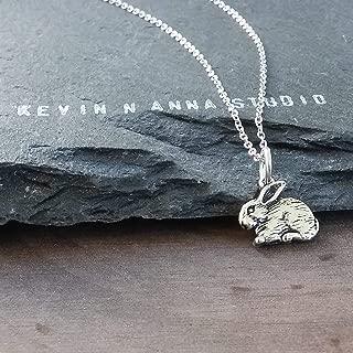 Sterling Silver Tiny Rabbit Charm Necklace, 18