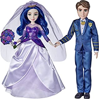Disney Descendants Mal and Ben Dolls, Inspired by Disney The Royal Wedding: A Descendants Story, Toys Include Outfits, Sho...