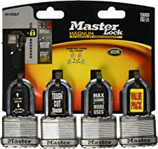 MASTER LOCK Company M1XQLF 4PK 1-3/4 MAG LG Padlock, 1 Pack
