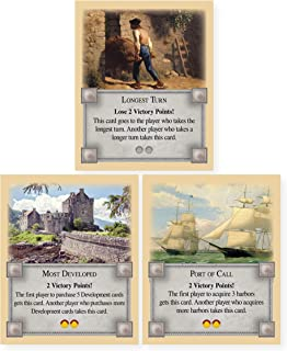 Longest Turn, Most Developed, and Port of Call Game Bonus Card Pack an Unofficial Expansion for Settlers of Catan