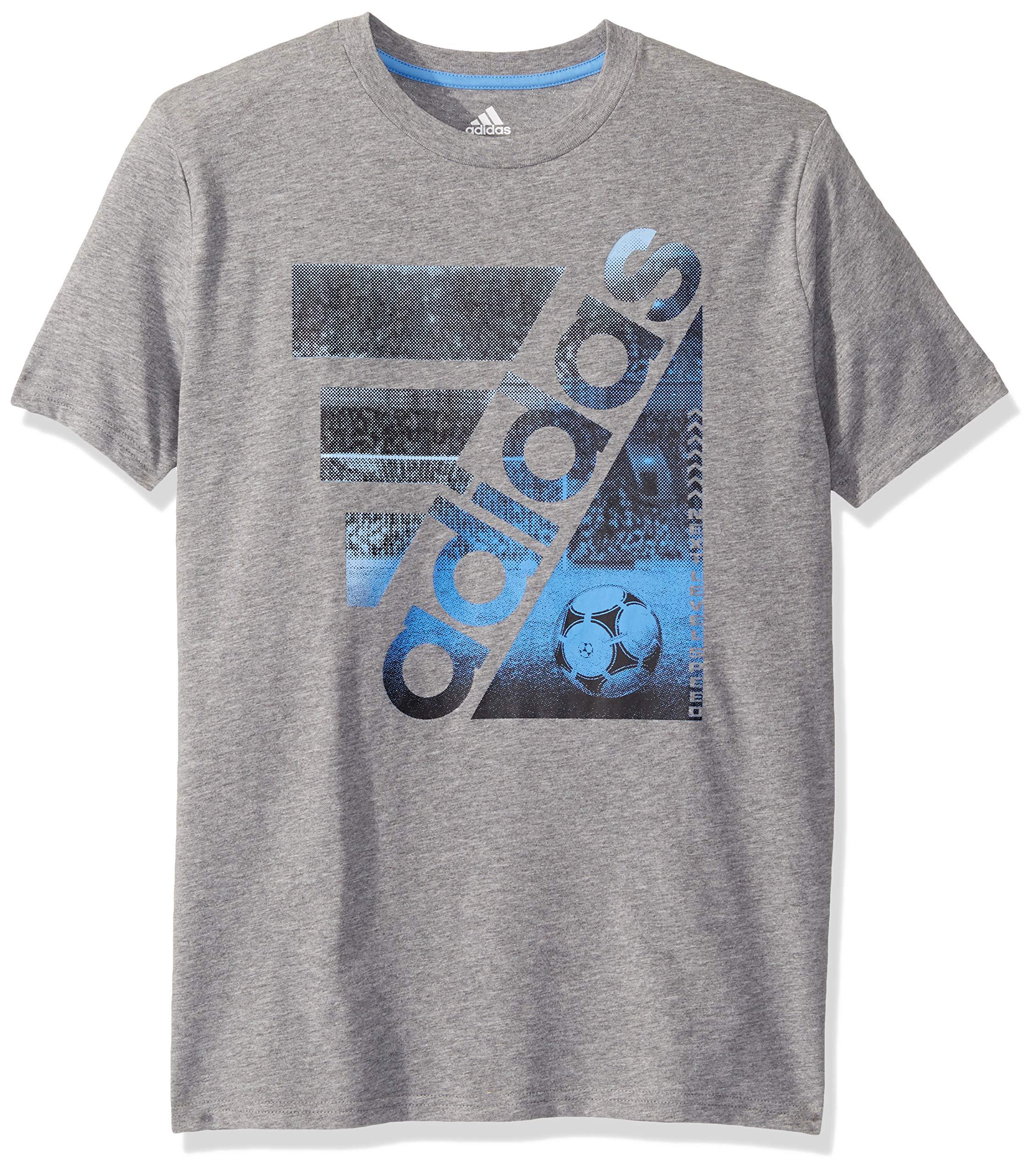 adidas Boys' Short Sleeve Cotton Jersey Graphic T-Shirt- Buy ...