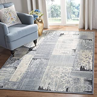 Safavieh Paradise Collection PAR100-730 Grey and Anthracite Viscose Area Rug (5'3