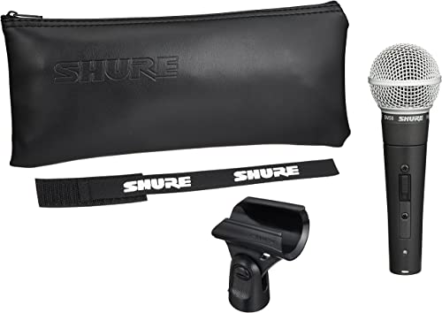 Shure Dynamic Microphone Shure Sm58-S Black And Silver, Vocal Cardiodie