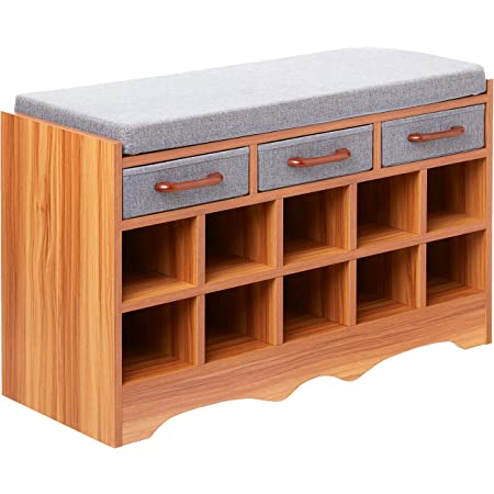 Amazon.com: Household Essentials Entryway Shoe Storage Bench with