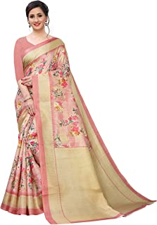 BHAKARWADi Women's Khadi silk Saree with Blouse Piece (321_Variation)